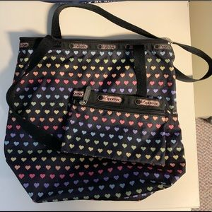 Lesportsac bucket bag and mini pouch
